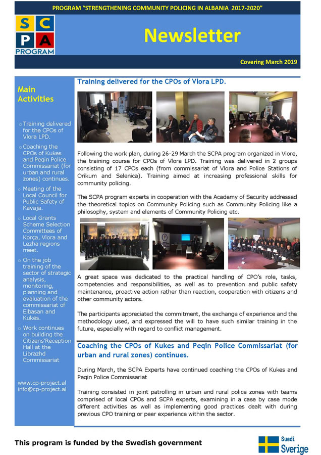 Newsletter March 2019 PMT